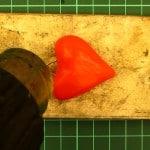 Брелок Сердечко из полиморфуса