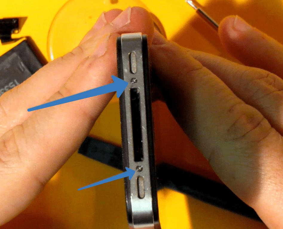 Винты крепления крышки iPhone 4