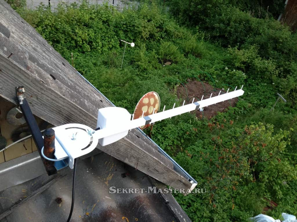как настроить антенну интернет на даче