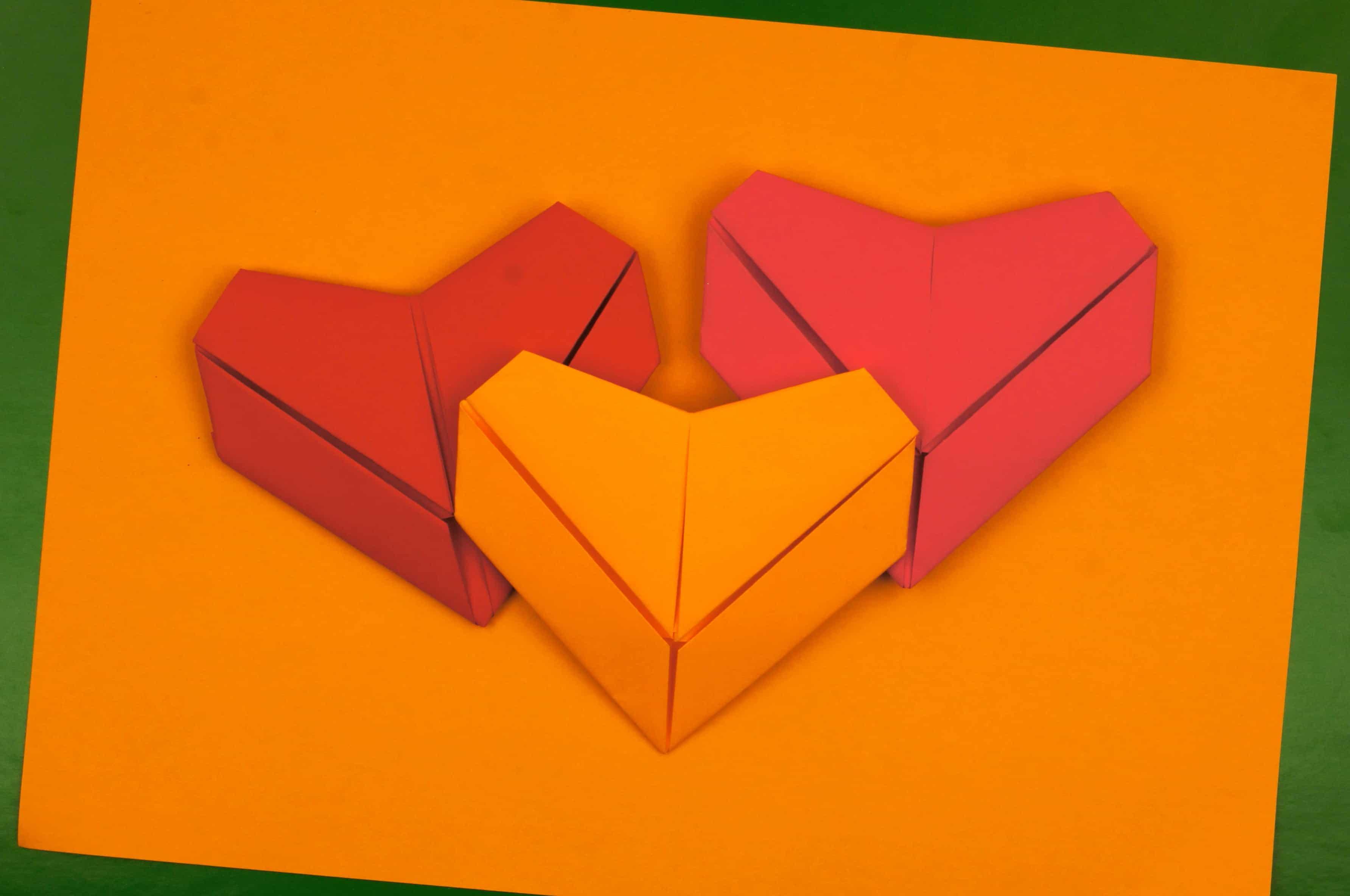 Оригами сердце валентинка