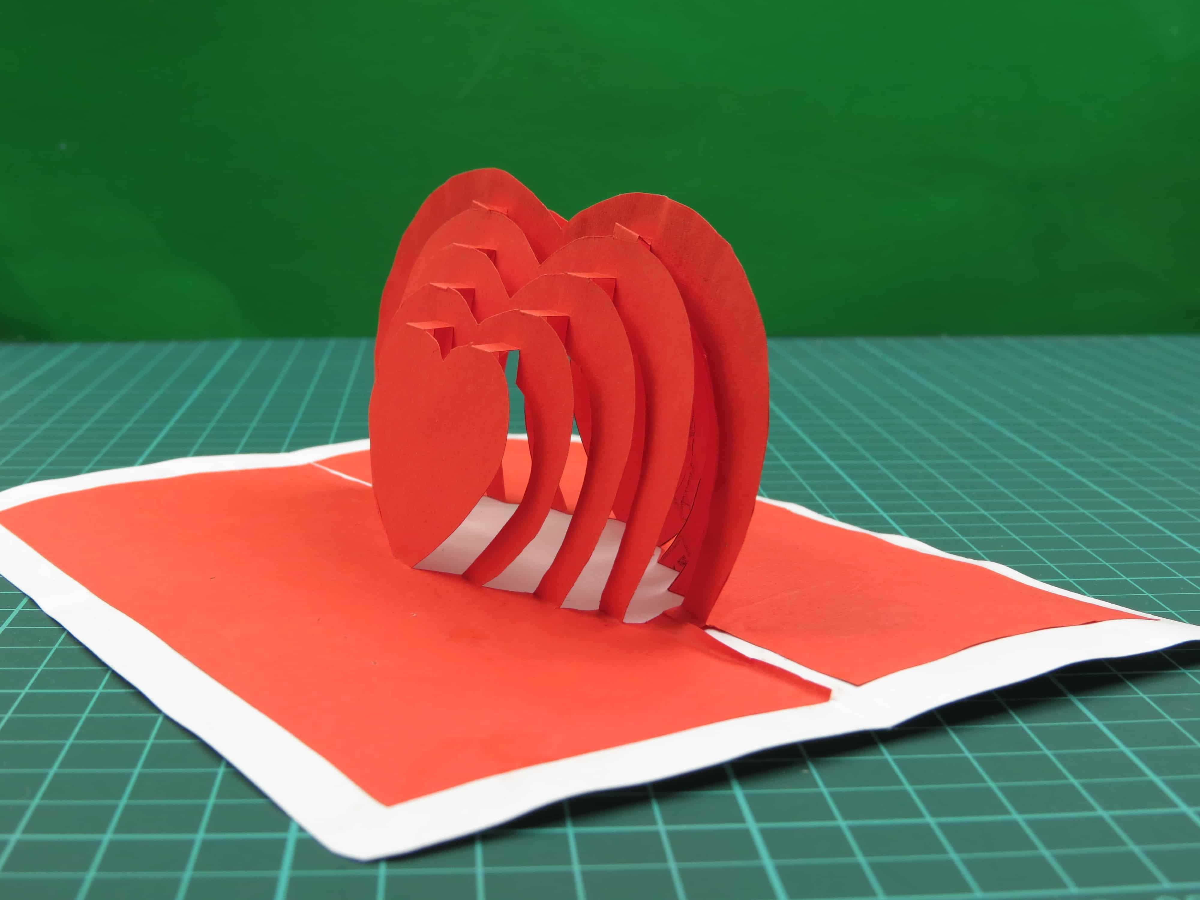 3D открытка валентинка из бумаги