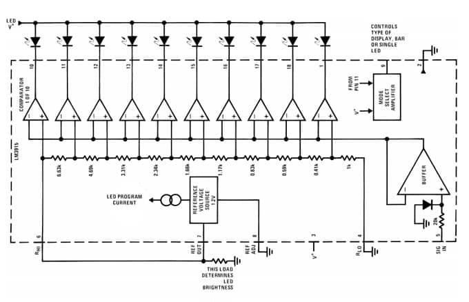 Конструкция микросхемы LM3915