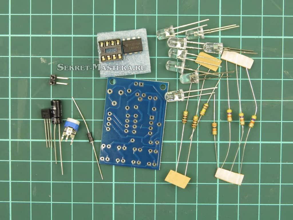 Набор деталей дышащего модуля на LM358